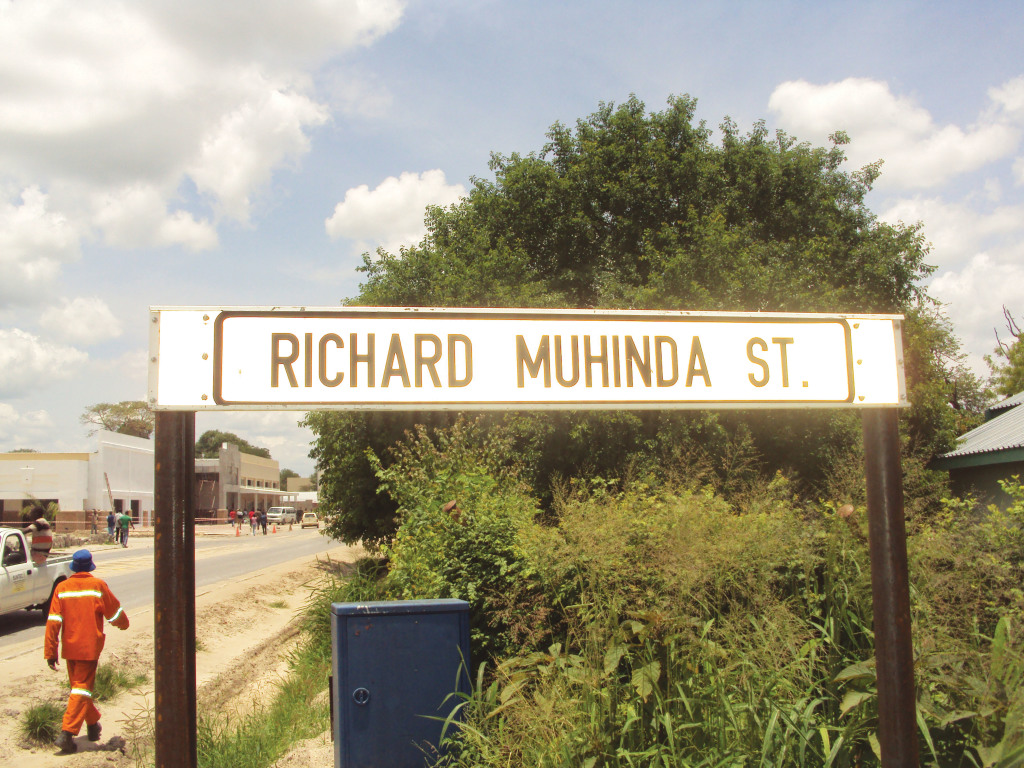 New Street for Mr.Richard Temuso Muhinda , former Chief of the Mafwe Tribe who was the Chief Minister in the then Administration for Caprivians . Photos taken by Aldrin Mukendwa