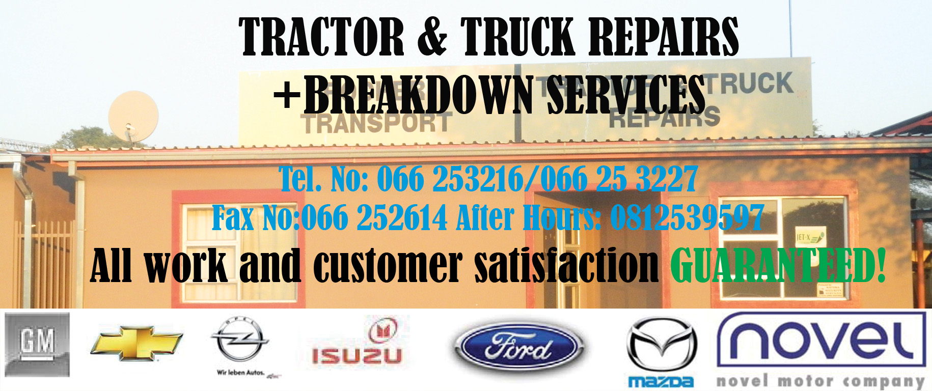 TRACTOR & TRUCK REPAIRS + BREAKDOWN SERVICES